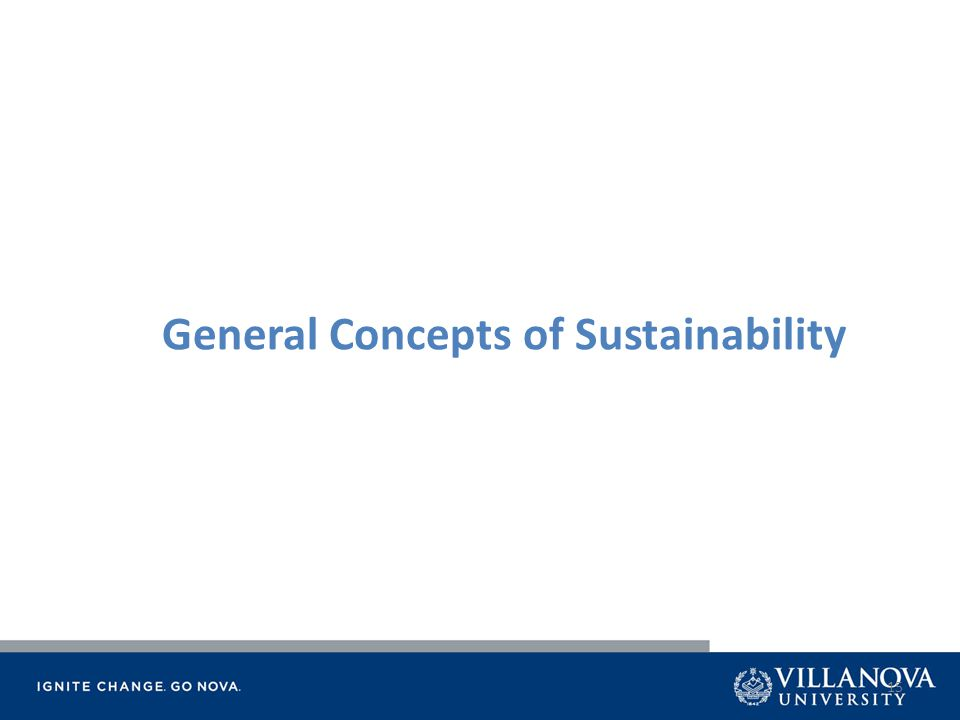 15 General Concepts of Sustainability