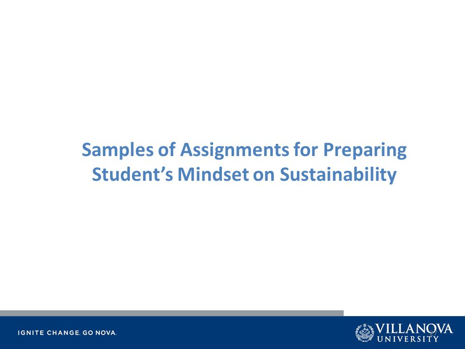 27 Samples of Assignments for Preparing Student's Mindset on Sustainability