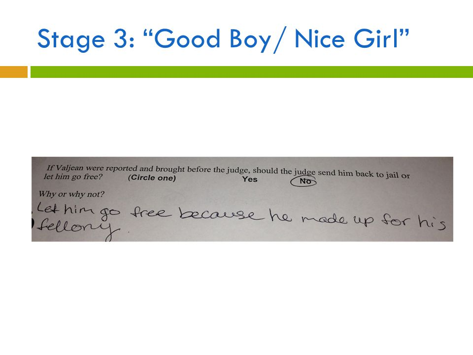 "Stage 3: ""Good Boy/ Nice Girl"""