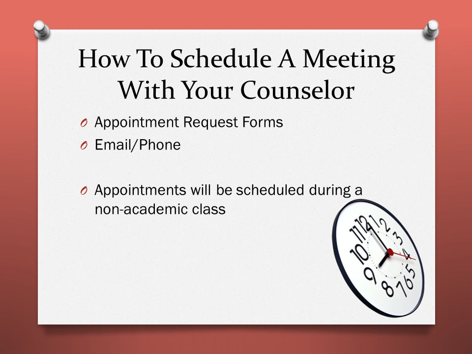 What Can My Counselor Help Me With.