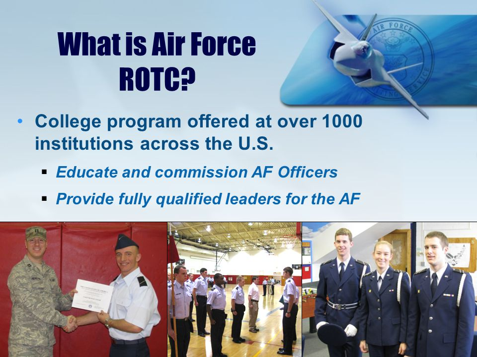 What can Air Force ROTC mean to you.