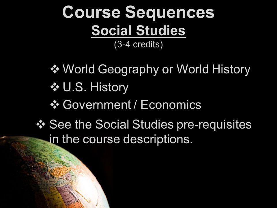  World Geography or World History  U.S.
