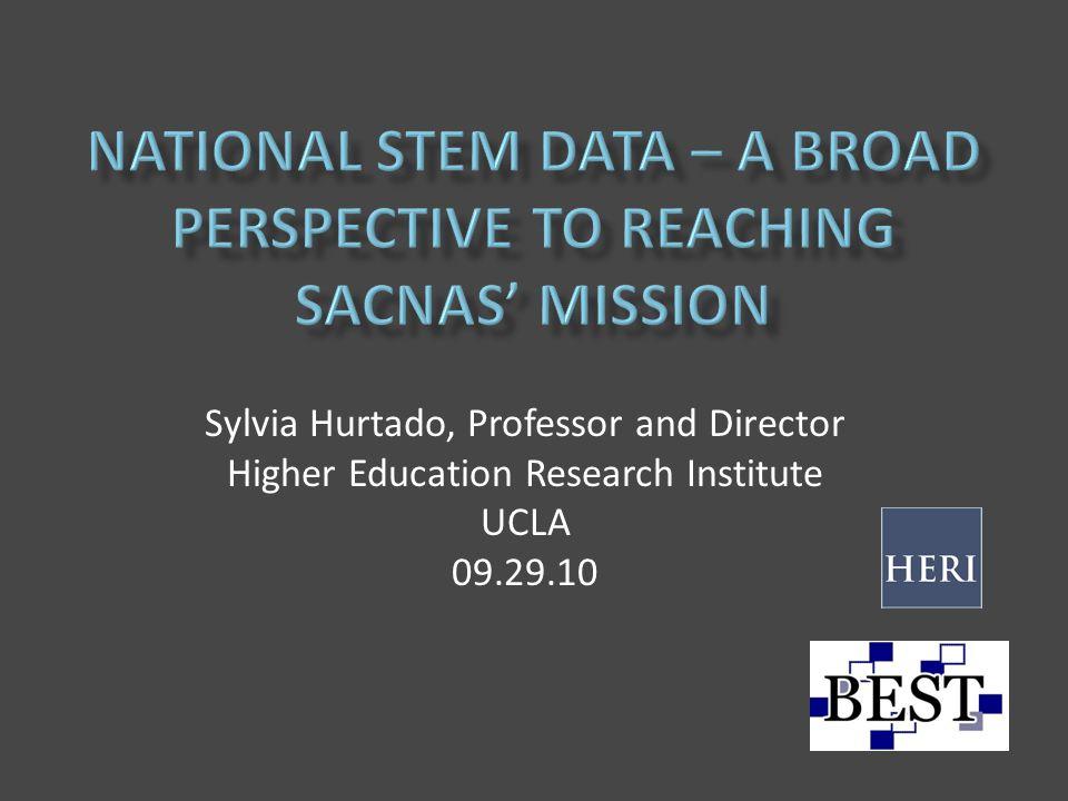 Sylvia Hurtado, Professor and Director Higher Education Research Institute UCLA 09.29.10