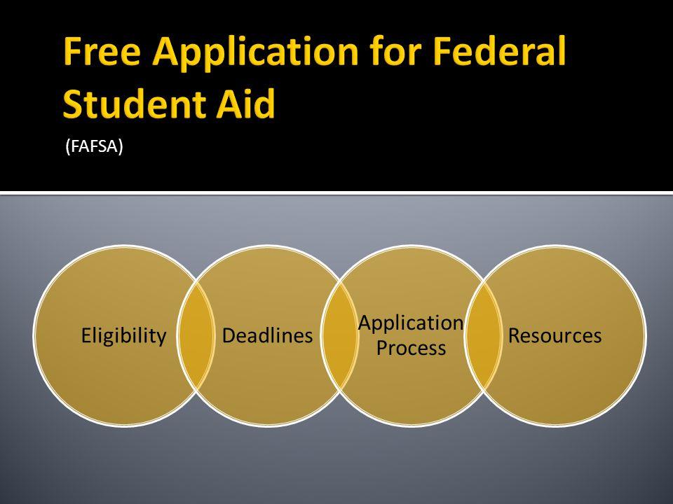 (FAFSA) EligibilityDeadlines Applicatio n Process Resources
