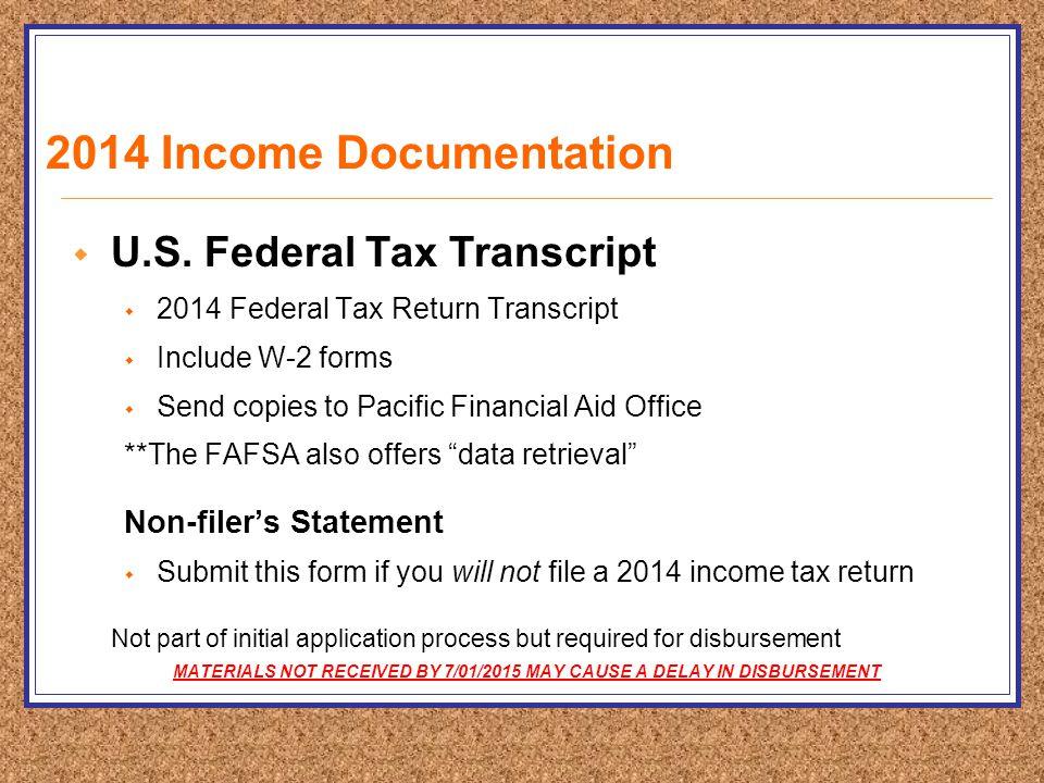2014 Income Documentation  U.S.