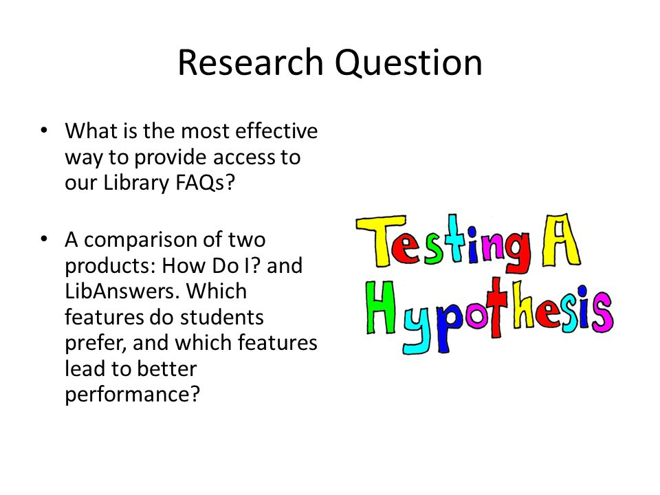 Research Question What is the most effective way to provide access to our Library FAQs.