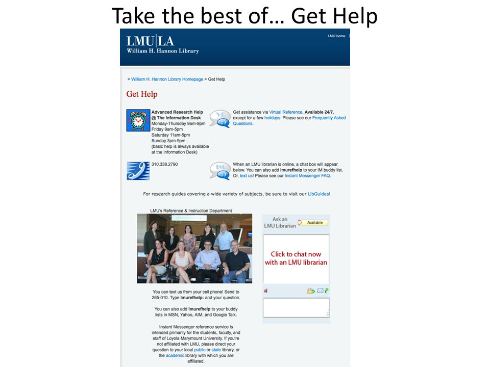 Take the best of… Get Help