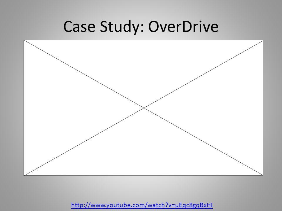 Case Study: OverDrive http://www.youtube.com/watch?v=uEqc8gqBxHI http://www.youtube.com/watch?v=uEqc8gqBx HI