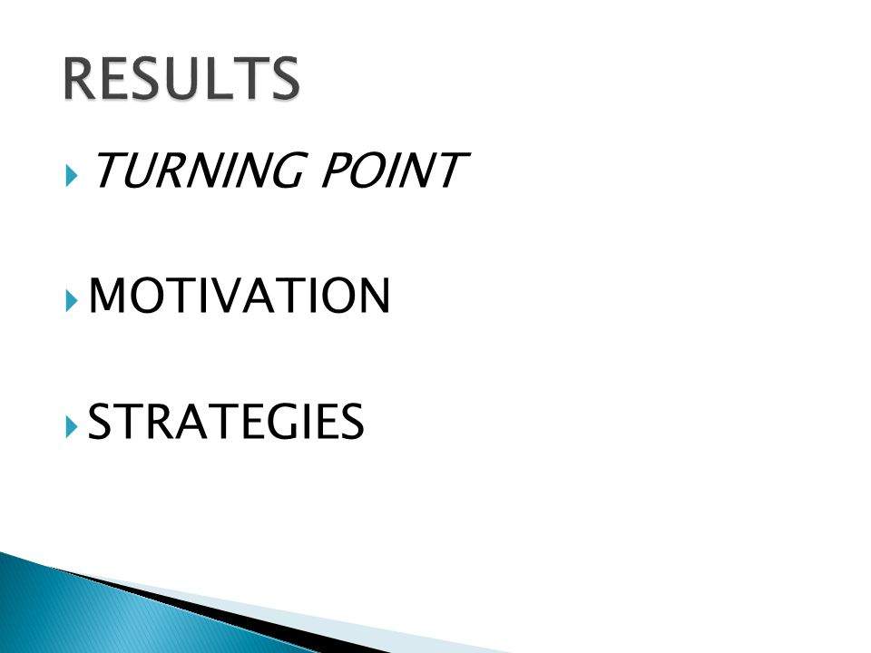  TURNING POINT  MOTIVATION  STRATEGIES