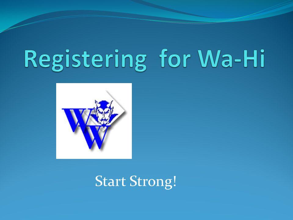 Start Strong!