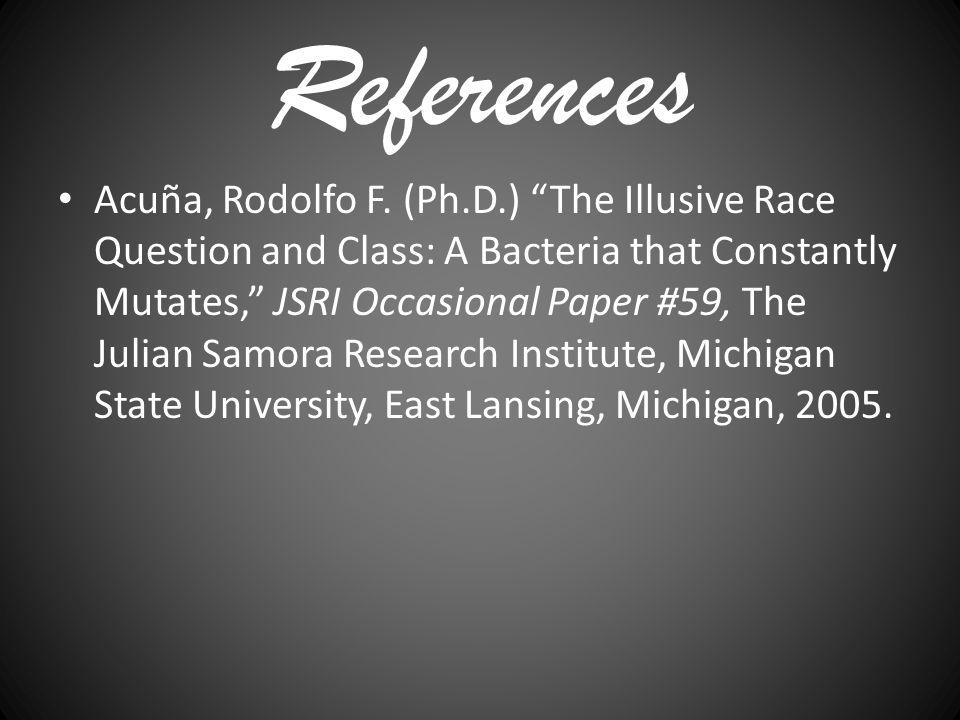 References Acuña, Rodolfo F.