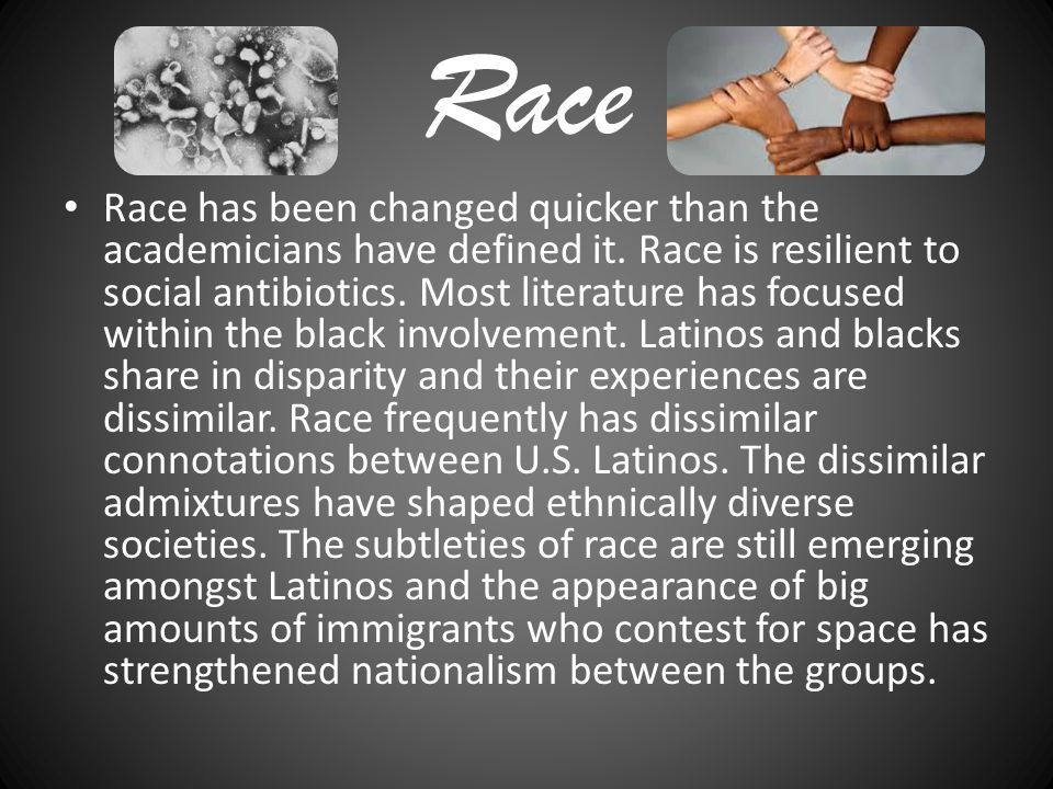 Conclusion The meaning of race has been more disorganized by the appearance of rich Latin Americans who have fled the political, social, and an economic leveling in countless Latin American countries.