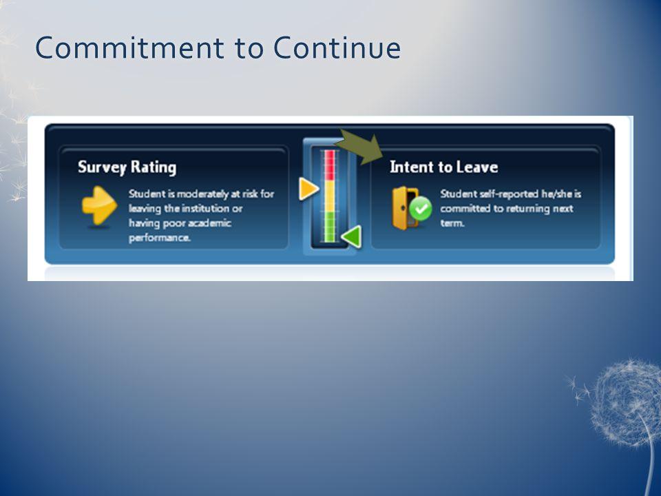 Commitment to ContinueCommitment to Continue
