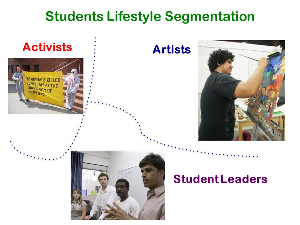 Students Lifestyle Segmentation Activists Artists Student Leaders