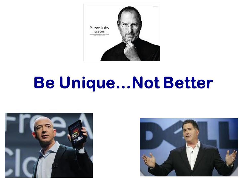 Be Unique…Not Better