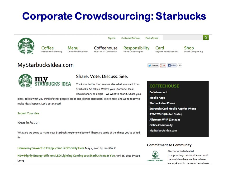 Corporate Crowdsourcing: Starbucks