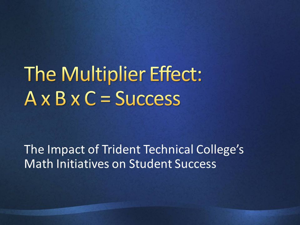 The Impact of Trident Technical College's Math Initiatives on Student Success