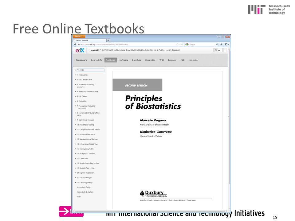 Free Online Textbooks 19