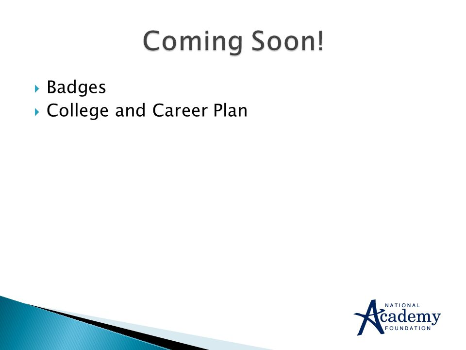  Badges  College and Career Plan