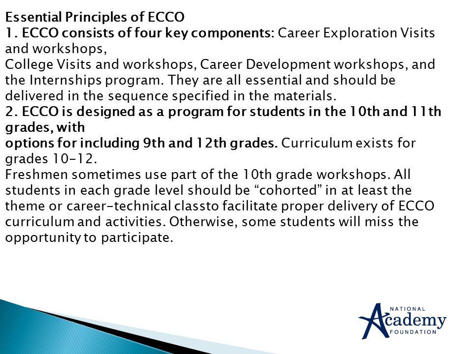 Essential Principles of ECCO 1.