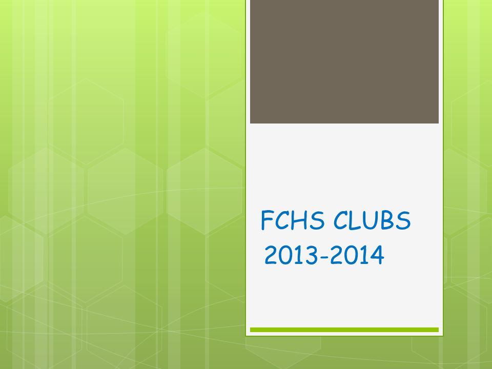 Student Council Club Information: Student council is based on developing students into leaders and school representatives.