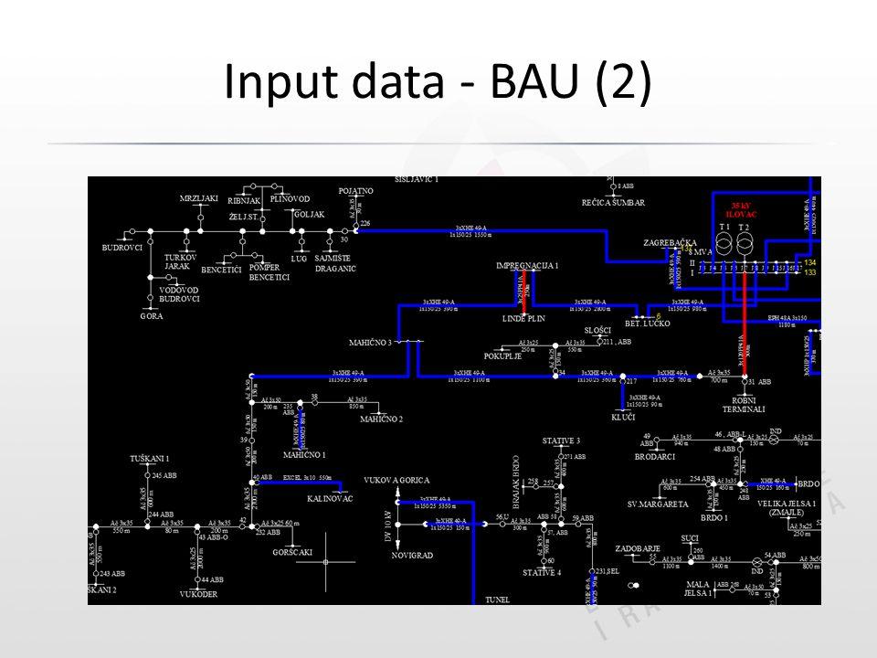 Input data - BAU (2)