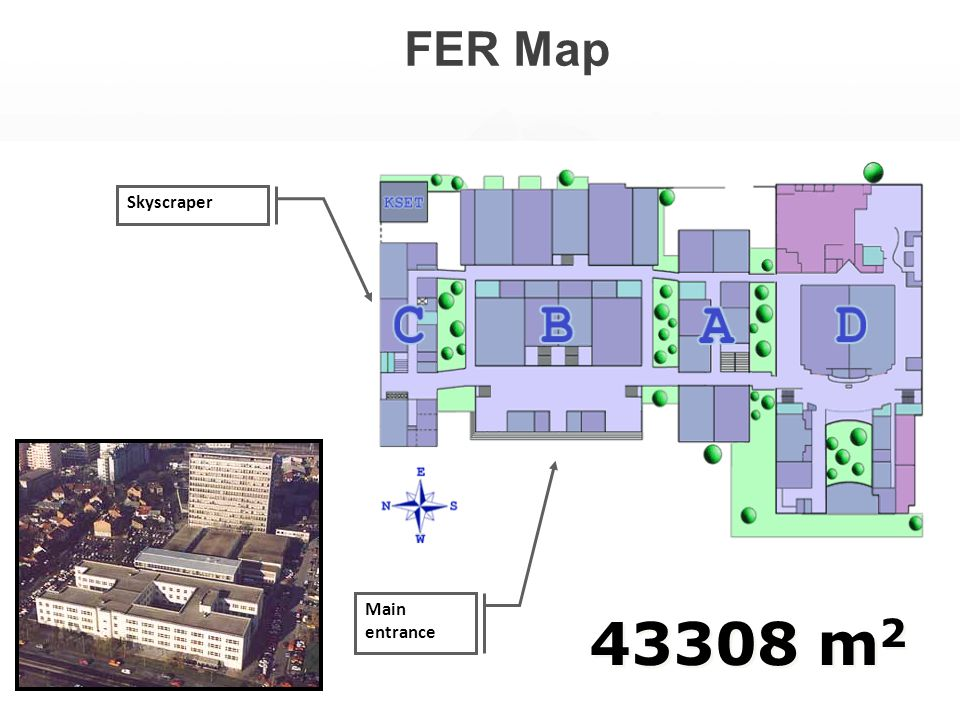 FER Map 43308 m 2 Main entrance Skyscraper
