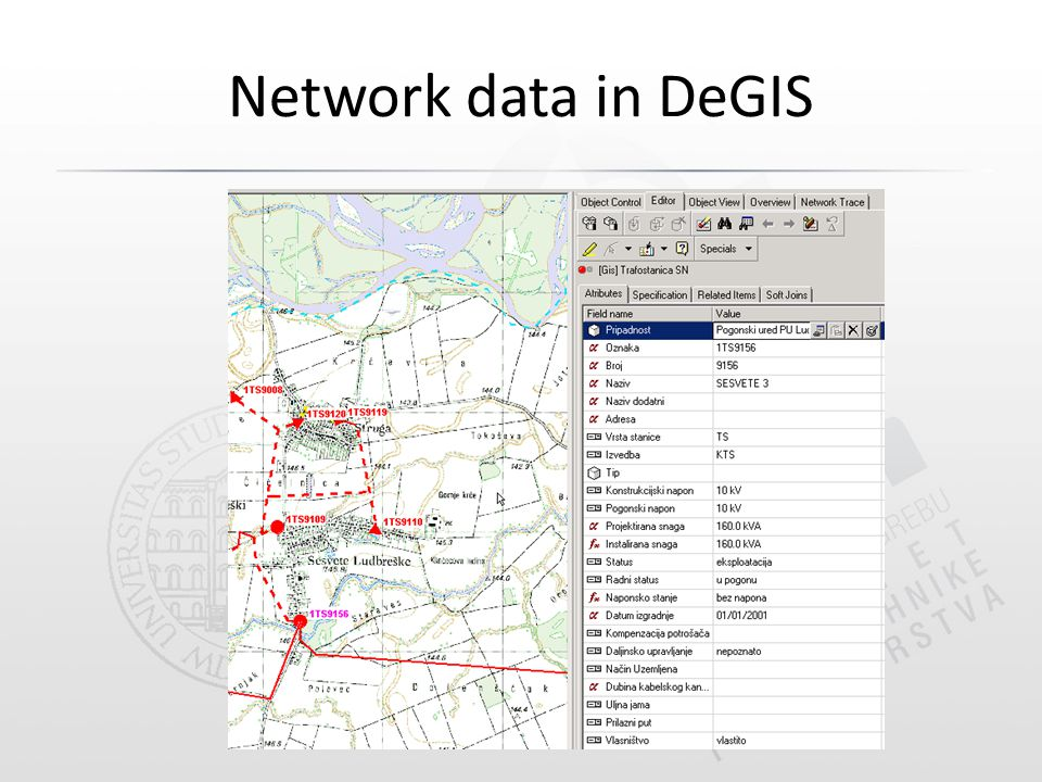 Network data in DeGIS