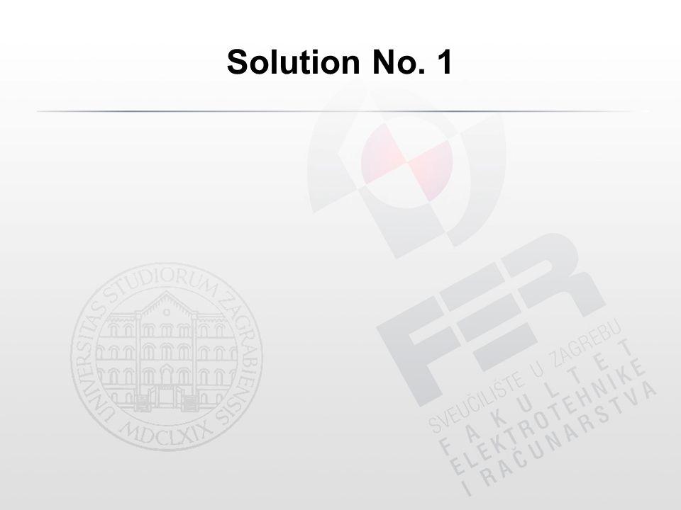 Solution No. 1