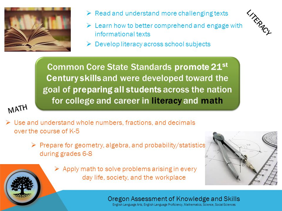 Oregon Assessment of Knowledge and Skills English Language Arts, English Language Proficiency, Mathematics, Science, Social Sciences HOW LONG DO THESE TESTS TAKE.
