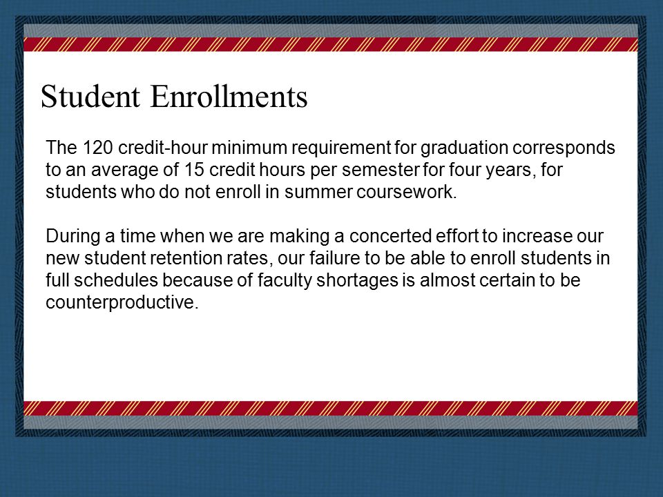 Student Enrollments We have had shortages in the past, but not to the extent we are seeing now.