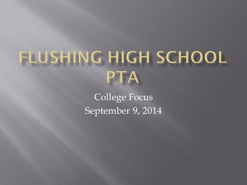 College Focus September 9, 2014