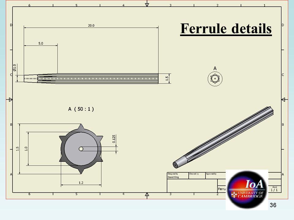 36 Ferrule details
