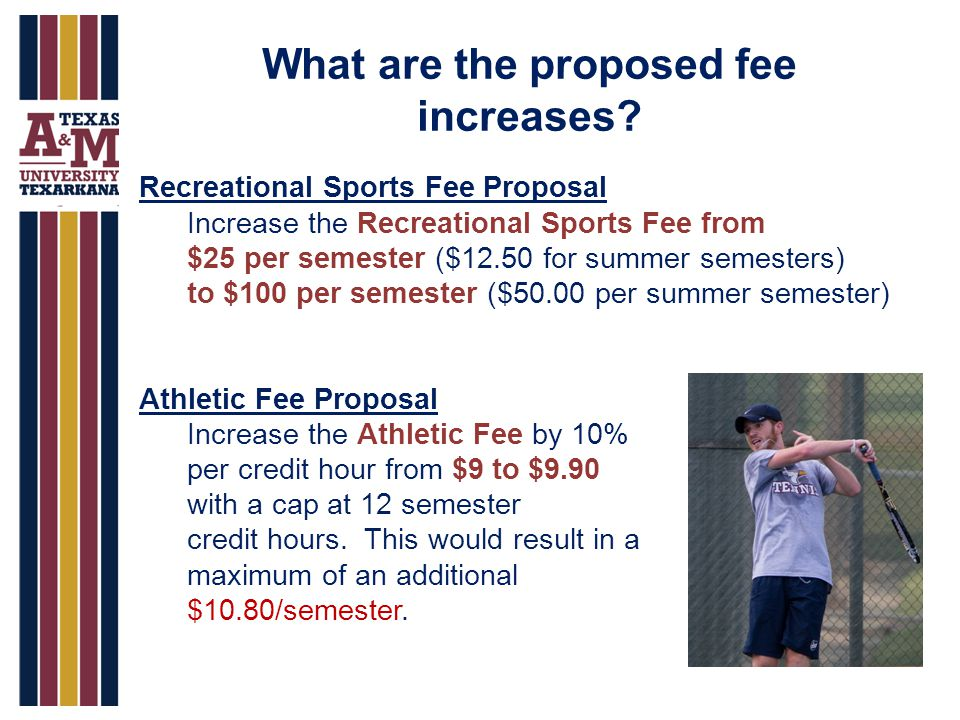 What are the proposed fee increases.