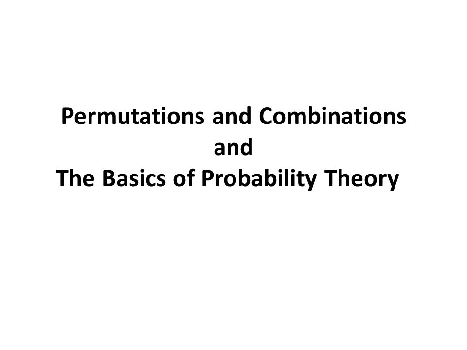 Formulas permutation combination without replacement and order is important without replacement and order is NOT important