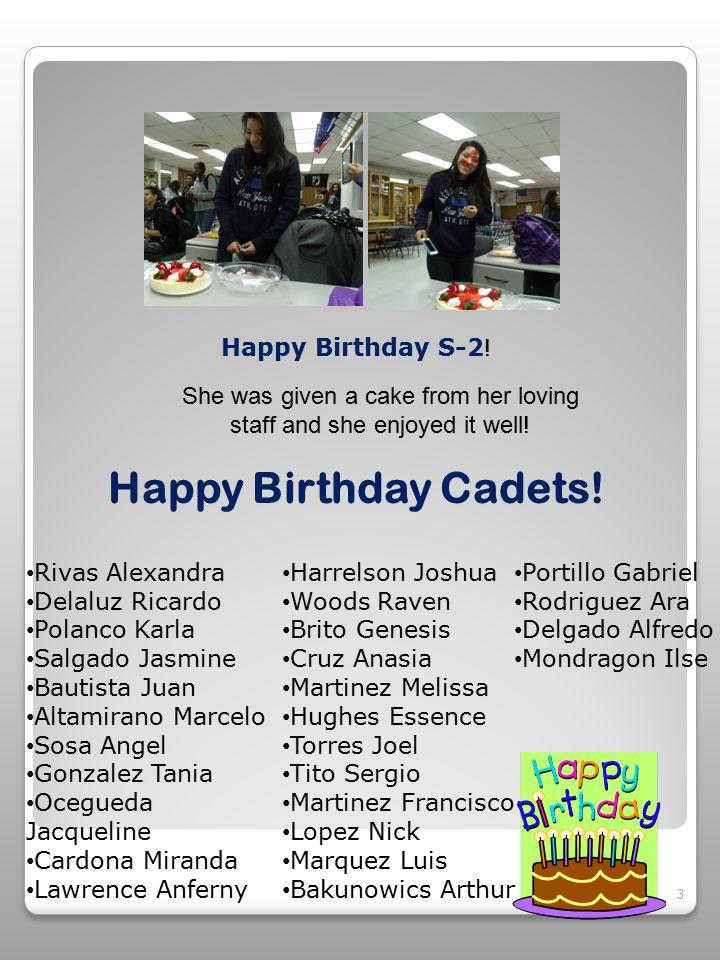 3 Happy Birthday Cadets.
