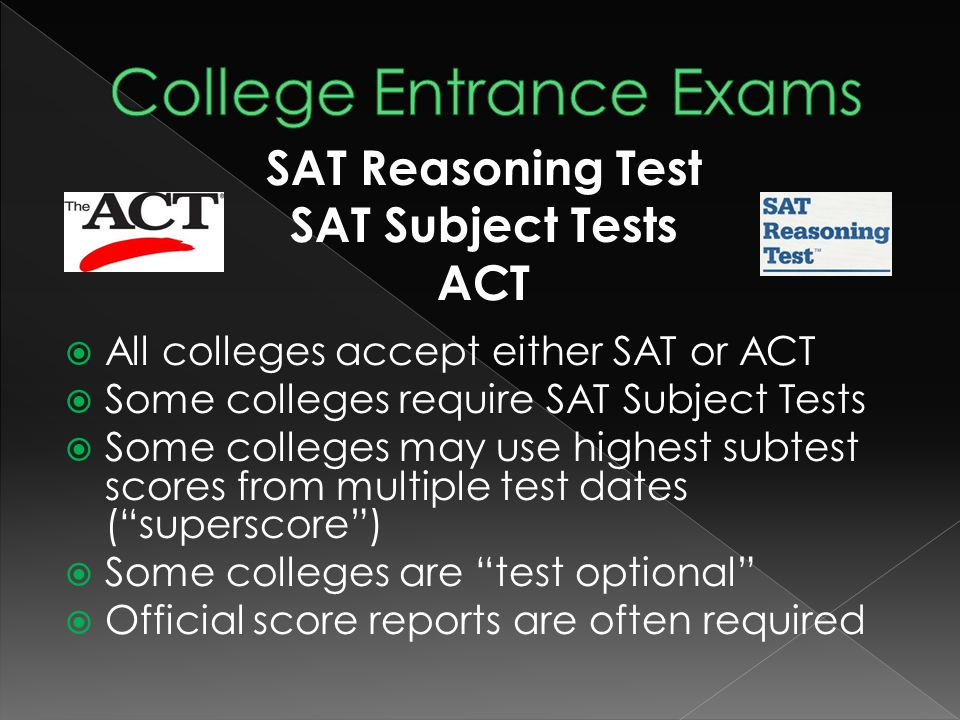  ACT and SAT (END of Junior Year)  College Exploration and Research  Visiting Colleges  Admissions meetings as AHS (Jr./ Sr.