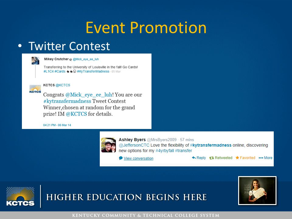 Event Promotion Twitter Contest