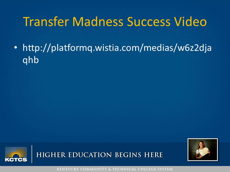 Transfer Madness Success Video http://platformq.wistia.com/medias/w6z2dja qhb