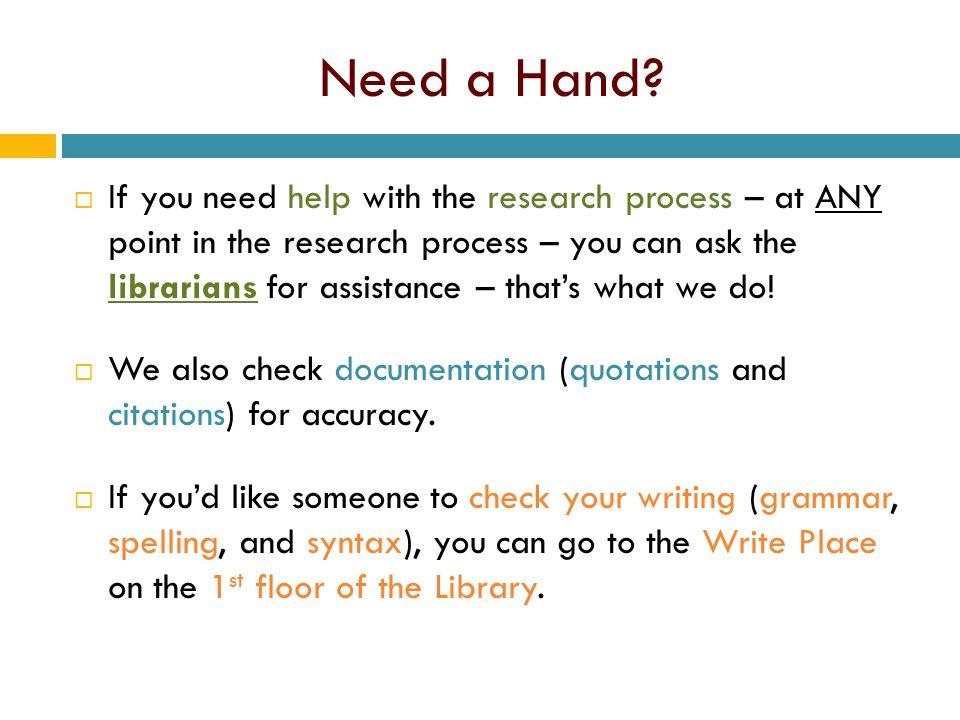Need a Hand.