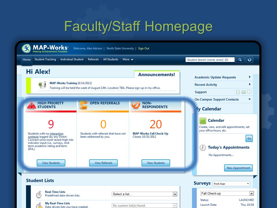 Faculty/Staff Homepage