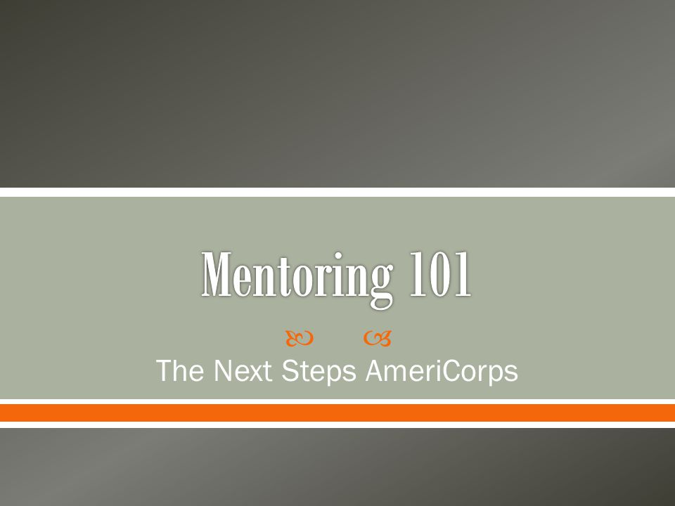  The Next Steps AmeriCorps