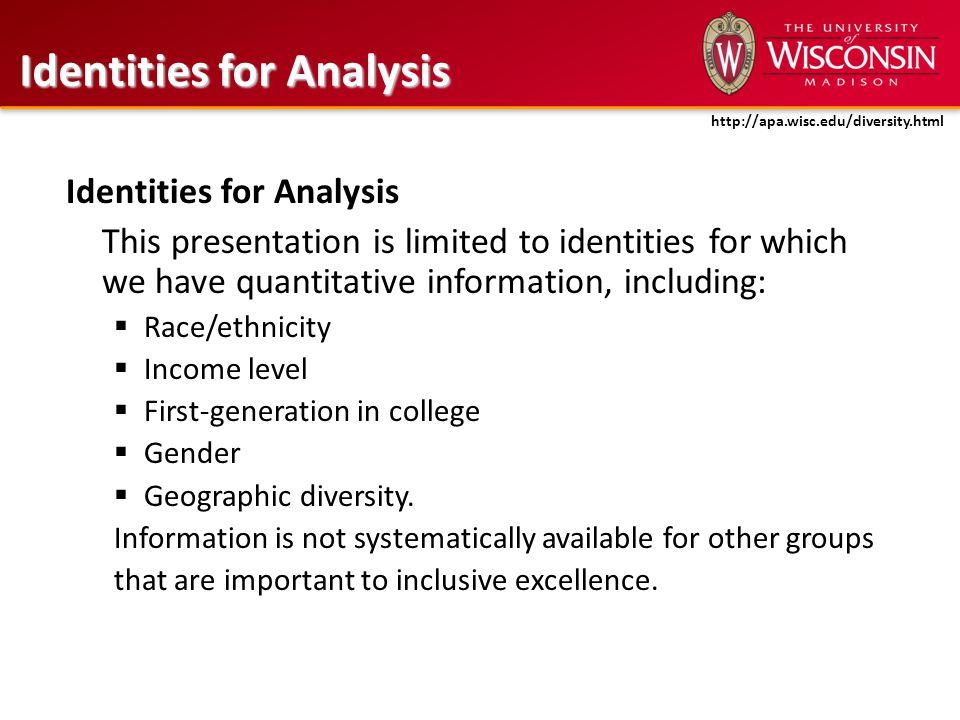 Access: Enrollment http://apa.wisc.edu/diversity.html