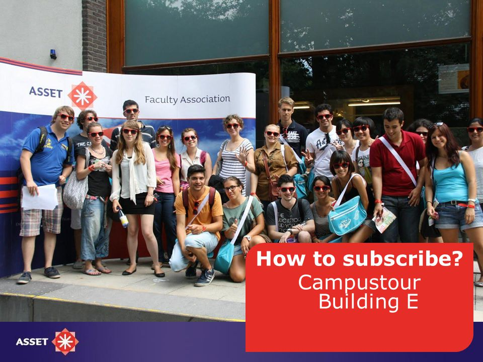 How to subscribe Campustour Building E