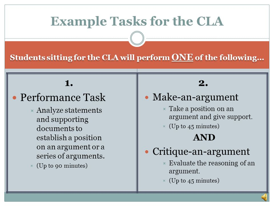 What should I know to prepare for the CLA.