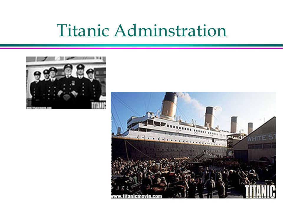 Titanic Adminstration