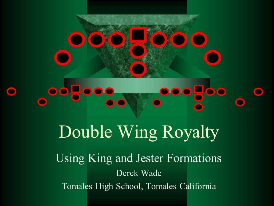 Double Wing Royalty Using King and Jester Formations Derek Wade Tomales High School, Tomales California