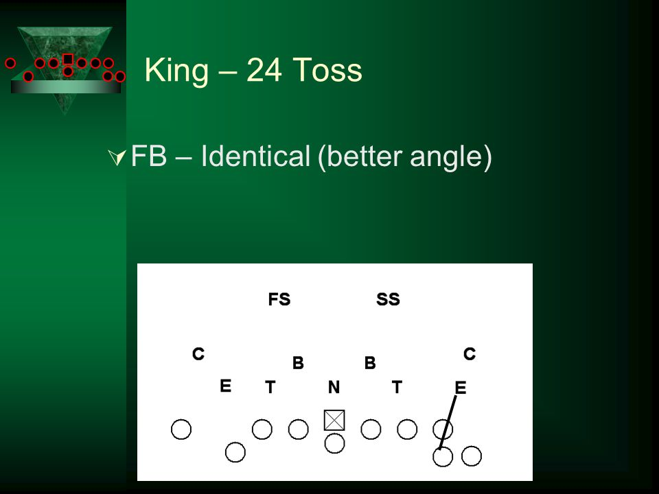 King – 24 Toss  FB – Identical (better angle)