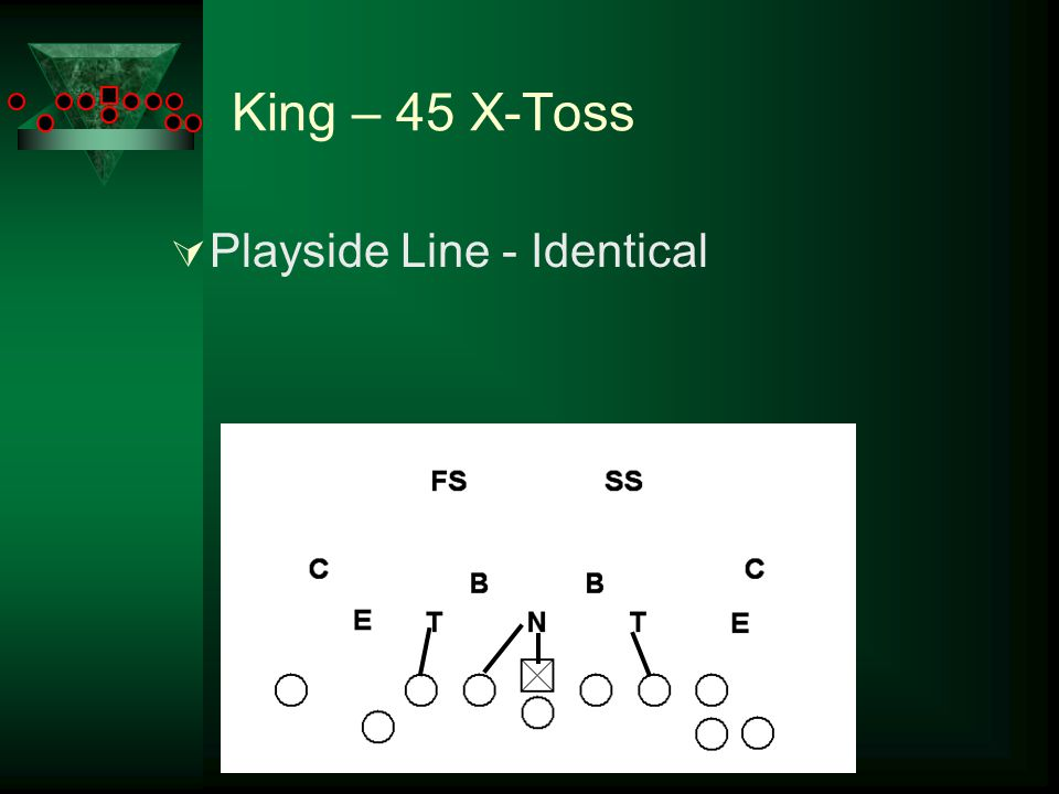 King – 45 X-Toss  Playside Line - Identical
