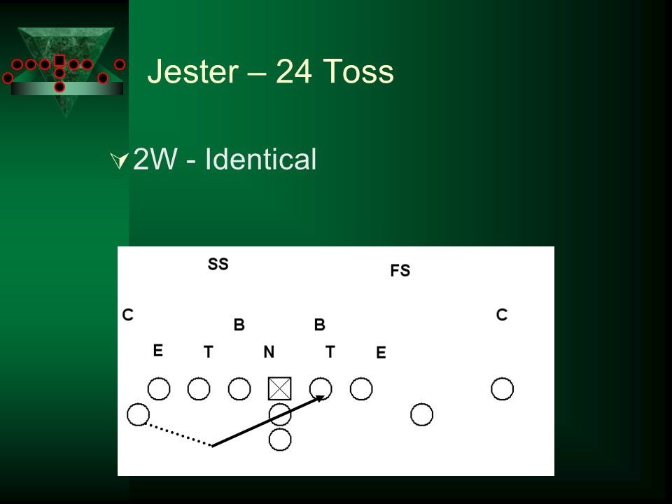 Jester – 24 Toss  4W – Identical or crack on end, depending on alignment